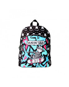 Cartera escolar love&child mochila adaptable a carro poliester salta conmigo color negro 420x330x140 mm