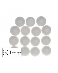Bolas de porexpan color blanco 60 mm bolsa de 4 unidades
