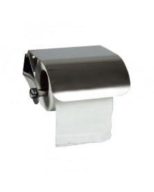 Dispensador q-connect de papel higienico acero inoxidable 122x98x45 mm