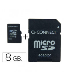 Memoria sd micro q-connect flash 8 gb clase 4 con adaptador