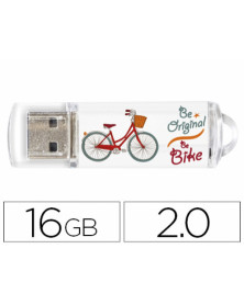 Memoria usb techonetech flash drive 16 gb 2.0 be bike