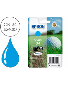 Ink-jet epson 34 workforce pro wf-3720 / wf-3720dwf / wf-3725dwf cian 300 paginas