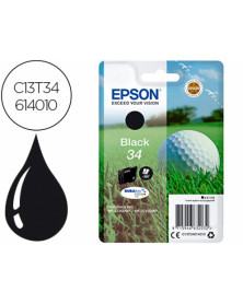 Ink-jet epson 34 workforce pro wf-3720 / wf-3720dwf / wf-3725dwf negro 350 paginas