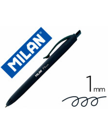 Boligrafo milan p1 retractil 1 mm touch negro