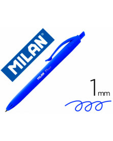 Boligrafo milan p1 retractil 1 mm touch azul