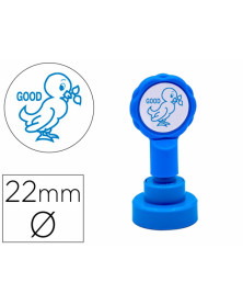 Sello artline emoticono bien color azul 22 mm diametro