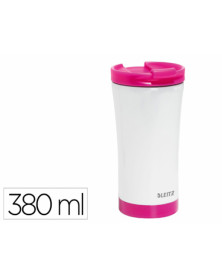 Taza leitz wow travel termica doble pared acero inoxidable capacidad 380 ml color fucsia