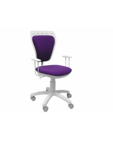 Silla giratoria q-connect base nylon blanco regulable en altura lila 790+190x530x370 mm