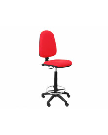 Taburete q-connect con respaldo regulable en altura rojo 1000+230x480x460 mm