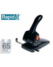 Taladrador rapid hdc65 fashion metalico/abs color negro capacidad 65 hojas