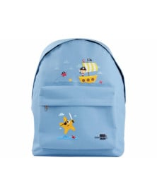 Cartera escolar liderpapel mochila piratas color celeste 380x280x120mm