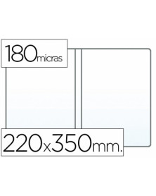 Funda portadocumento cuarto doble 180 micras pvc transparente 220x350mm