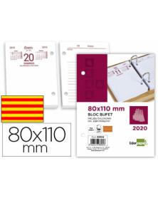 Bloc bufete liderpapel 80x110 mm 2020 papel 80 gr texto en catalan