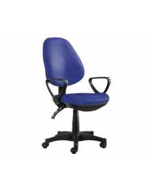 Silla giratoria q-connect base nylon negro regulable en altura 1020+120mm alto azul 475 mm largo 440mm profundidad