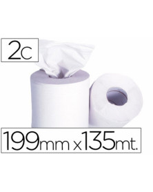 Papel secamanos 2 capas 199 mm x 135 mt -mandril 76 mmdiametro 197 mm