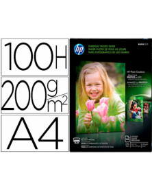 Papel hp photo semi-glossy 200g/m2 din a4 100h