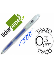 Boligrafo liderpapel super gel punta 0.5 mm azul