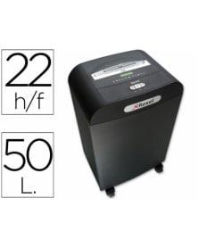 Destructora de documentos mercury rds-2250 capacidad de corte 22 h destruye grapas clips cd y tarjetas