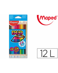 Lapices de colores maped color peps duo bicolor caja 12