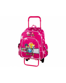 Cartera escolar copywrite mochila con trolley desmontable power puff girls 42x27x13 cms