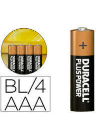 Pila duracell alcalina plus aaa blister con 4 pilas