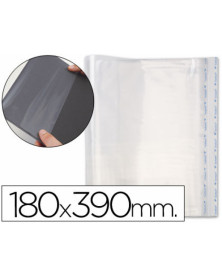 Forralibro pp ajustable adhesivo 180x390mm -blister
