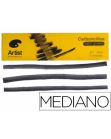 Carboncillo artist medianos 5-6 mm caja de 6 barras