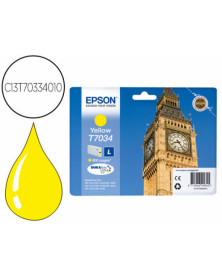 Ink-jet epson stylus t7034 amarillo l wp-4000 4500 capacidad 1200 pag