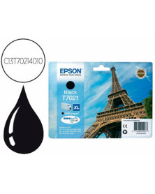 Ink-jet epson stylus t7021 negro xl wp-4000 4500 capacidad 2400 pag