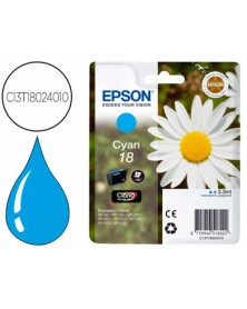 Ink-jet epson t18 cyan expression home xp-102 xp-205 xp-305 xp-405 capacidad 180 pag