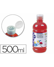 Tempera liquida liderpapel escolar 500 ml rojo