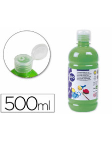Tempera liquida liderpapel escolar 500 ml verde