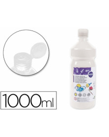 Tempera liquida liderpapel escolar 1000 ml blanco