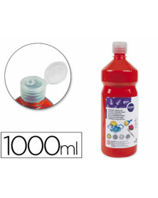 Tempera liquida liderpapel escolar 1000 ml rojo
