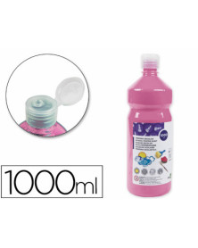Tempera liquida liderpapel escolar 1000 ml rosa