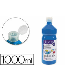 Tempera liquida liderpapel escolar 1000 ml azul