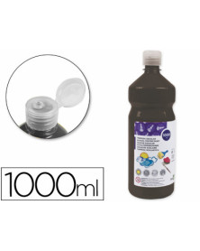 Tempera liquida liderpapel escolar 1000 ml negro
