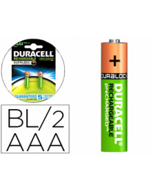Pila duracell recargable staycharged aaa 800 mah blister de 2 unidades