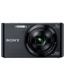 Camara digital sony dscw830b negra 20,1 mpx zoom optico 8x graba video hd 720p bateria con correa de mano