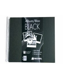 Album block michel espiral 24,5x24,5 cm 20 hojas 300 gr color negro