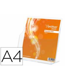 Expositor archivo 2000 premium portafolletos din a4 vertical cristal transparente 120x220x230 mm