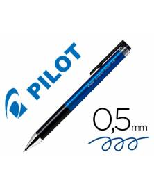 Boligrafo pilot synergy point retractil sujecion de caucho tinta gel 0,5 mm azul