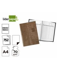 Libro de reservas liderpapel 2021 din a4 dos dias pagina 752 paginas papel blanco 70 gr
