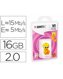 Memoria usb emtec flash 16 gb usb 2.0 tweety