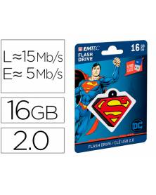 Memoria usb emtec flash 16 gb usb 2.0 collector superman