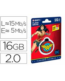 Memoria usb emtec flash 16 gb usb 2.0 collector wonder woman