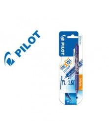 Boligrafo pilot frixion clicker borrable 0,7 mm color azul claro en blister