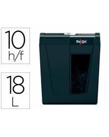 Destructora de documentos rexel secure x10 eu capacidad 10 hojas grapas clips tarjetas y cd 18 l
