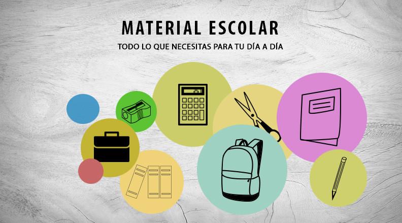 Todo lo que necesitas en material escolar